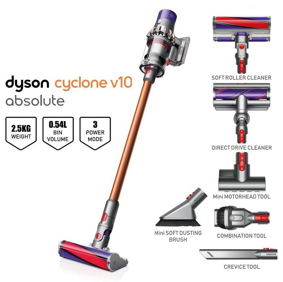 2. Dyson Cyclone V10 Absolute Vacuum Cleaner Review - Best Features Cordless Vacuum Cleaner image