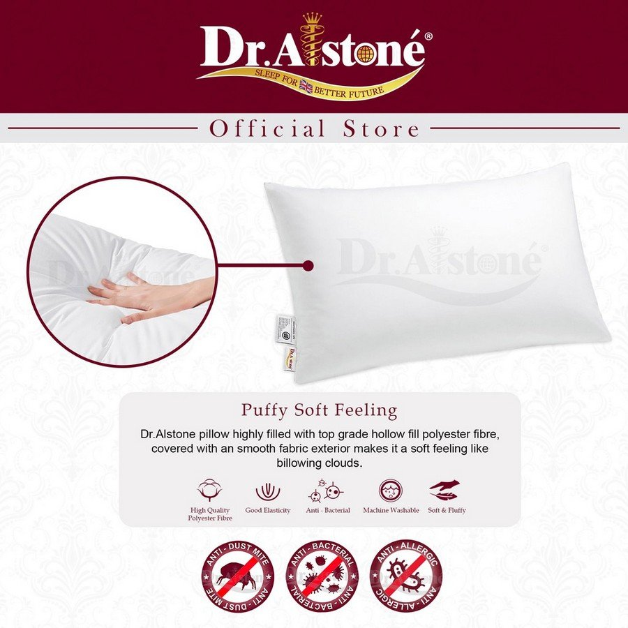 4. Dr.Alstone Hollow Fill Soft Polyester Pillow Review image