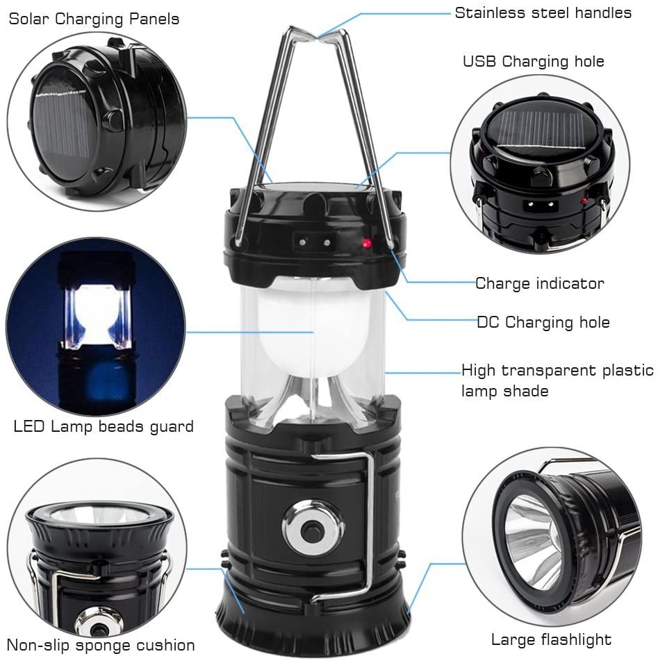 2. SH-5800T Rechargeable 3 in 1 Solar Ultra Bright Camping Lantern [Review] image